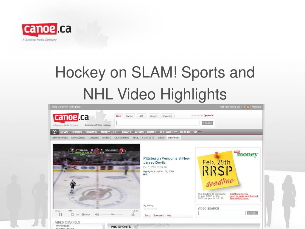 hockey on slam sports and nhl video highlights l.