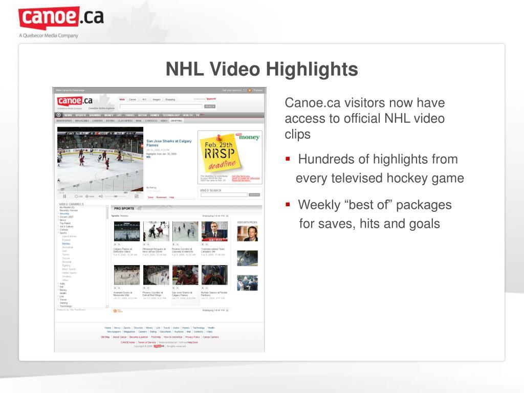 NHL Video Highlights
