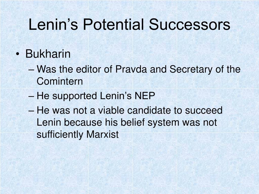 Lenin's Potential Successors