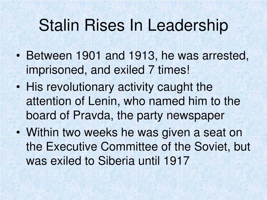 Stalin Rises In Leadership