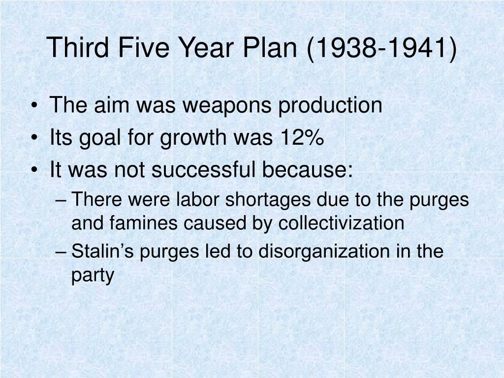 Third Five Year Plan (1938-1941)