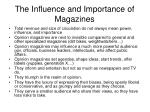 the influence and importance of magazines