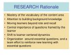 research rationale18