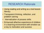 research rationale20
