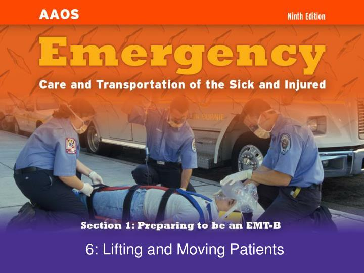 6 lifting and moving patients n.