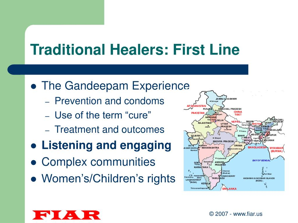 Traditional Healers: First Line