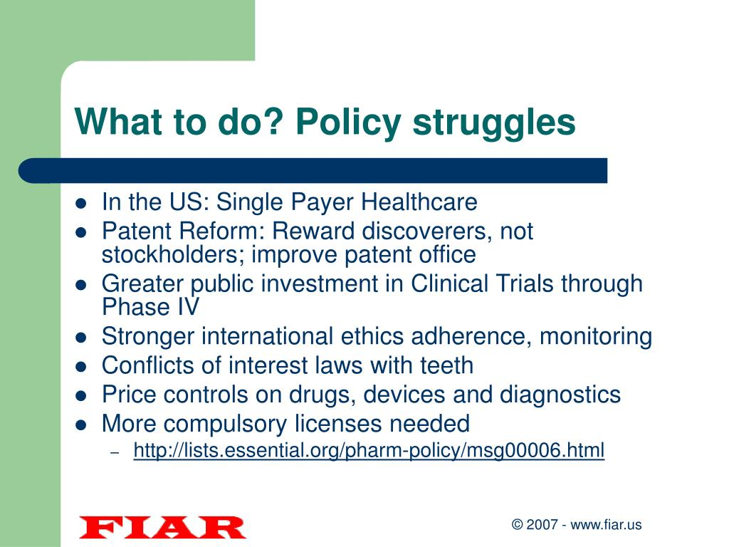 What to do? Policy struggles
