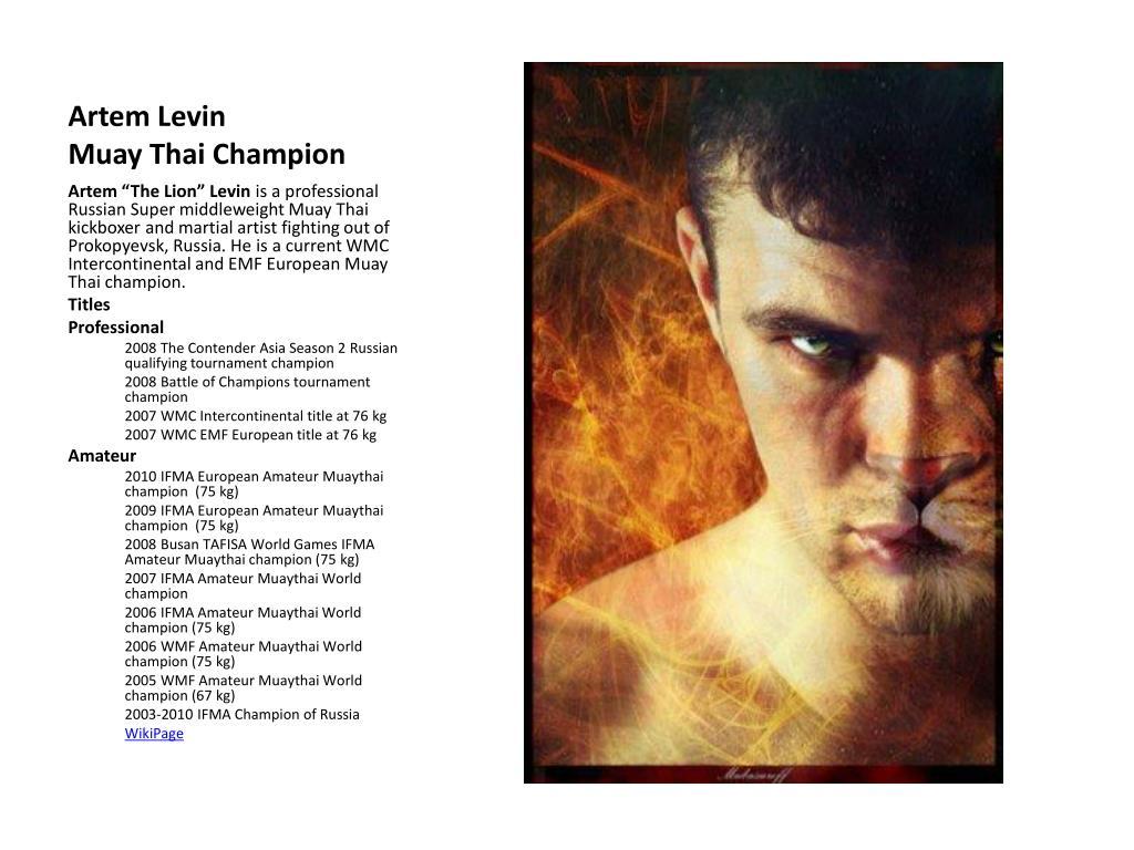 artem levin muay thai champion l.