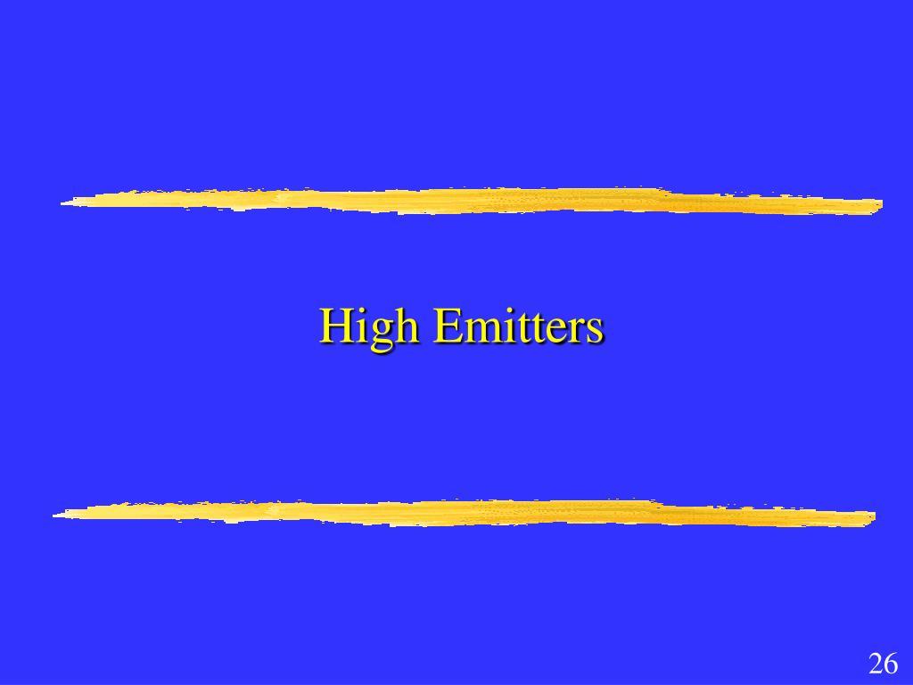 High Emitters