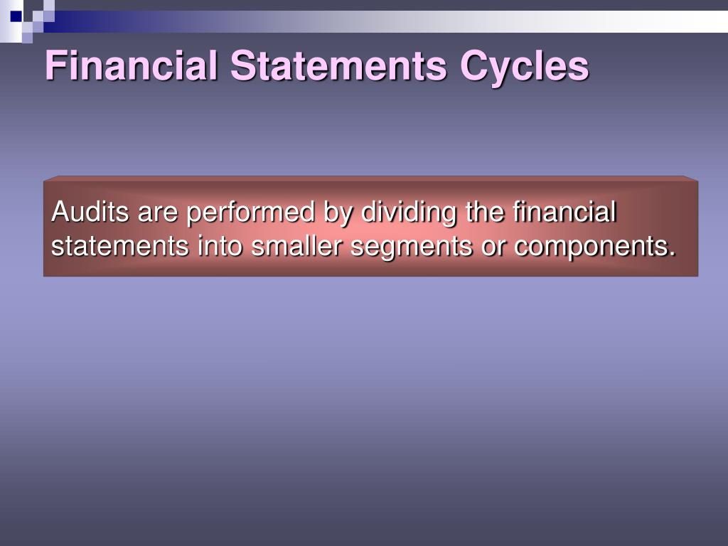 Financial Statements Cycles