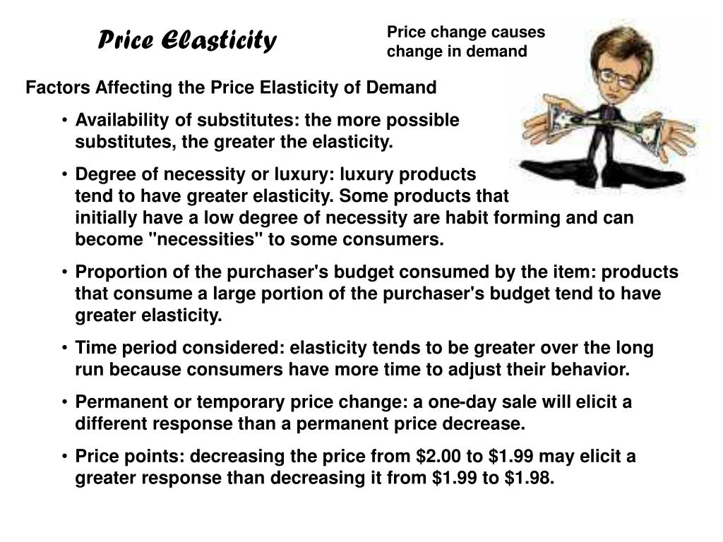 Factors Affecting the Price Elasticity of Demand