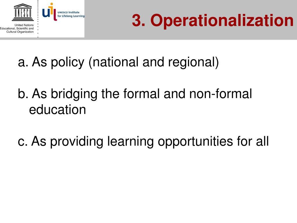 3. Operationalization