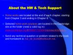 about the hw tech support