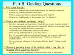 part b guiding questions