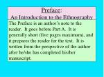 preface an introduction to the ethnography