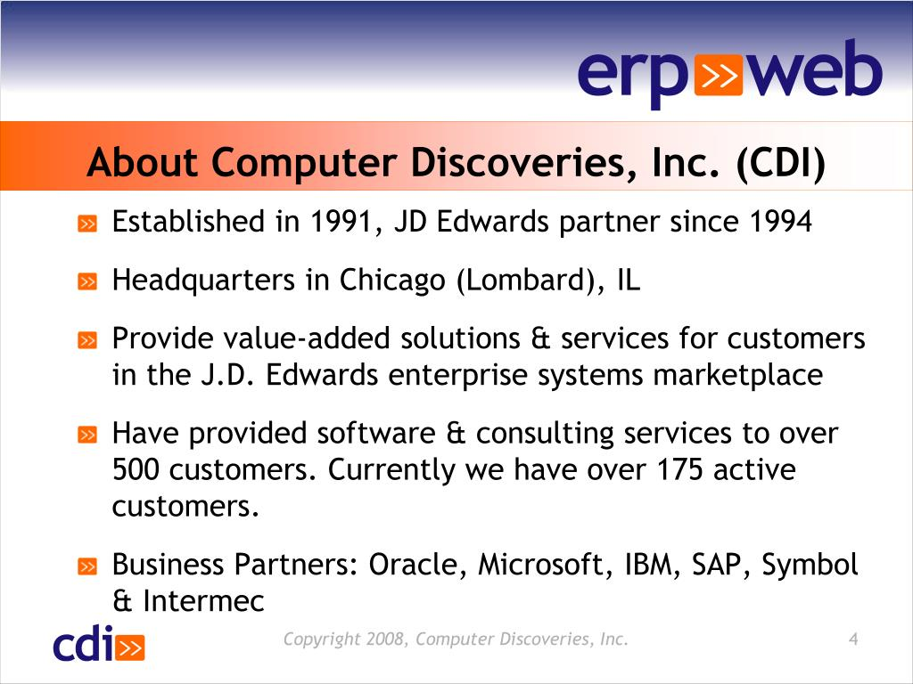 About Computer Discoveries, Inc. (CDI)