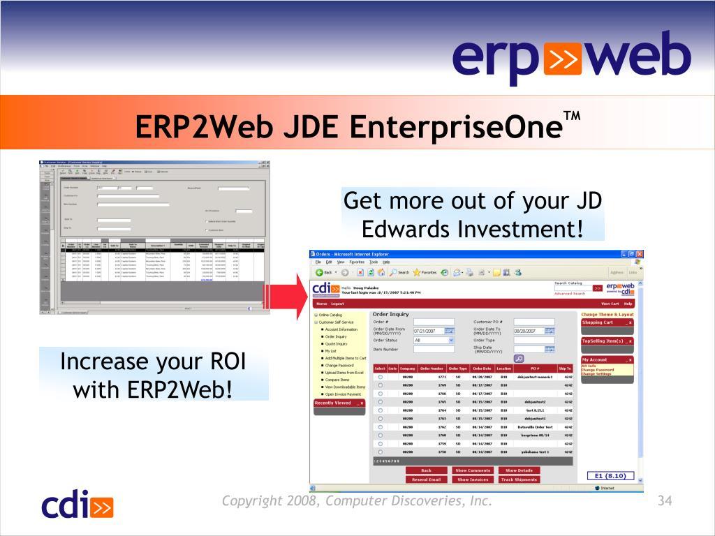 ERP2Web JDE