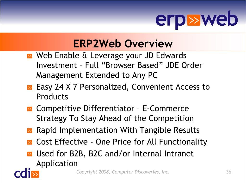 ERP2Web Overview