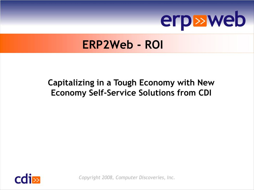 ERP2Web - ROI