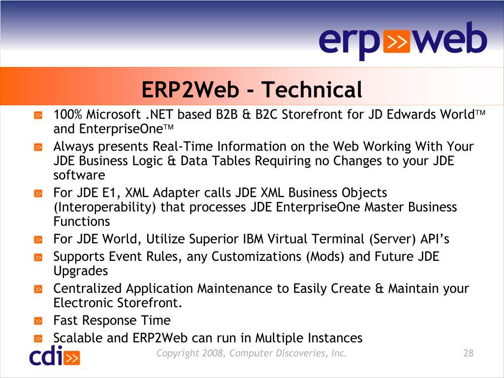 ERP2Web - Technical