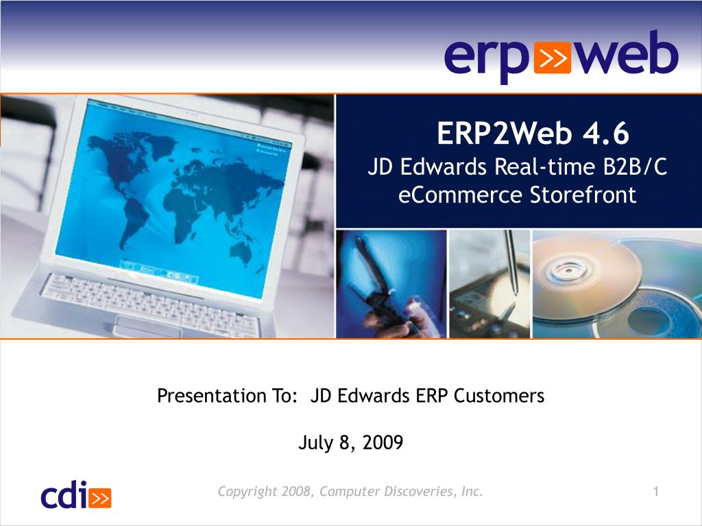 Ppt Erp2web 4 6 Jd Edwards Real Time B2b C Ecommerce Storefront Powerpoint Presentation Id 264441