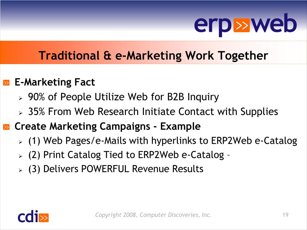 Traditional & e-Marketing Work Together