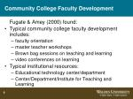 community college faculty development