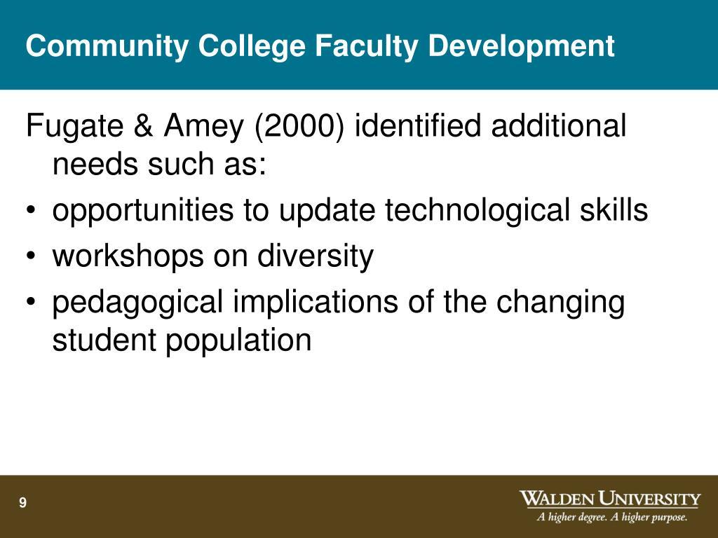 Community College Faculty Development