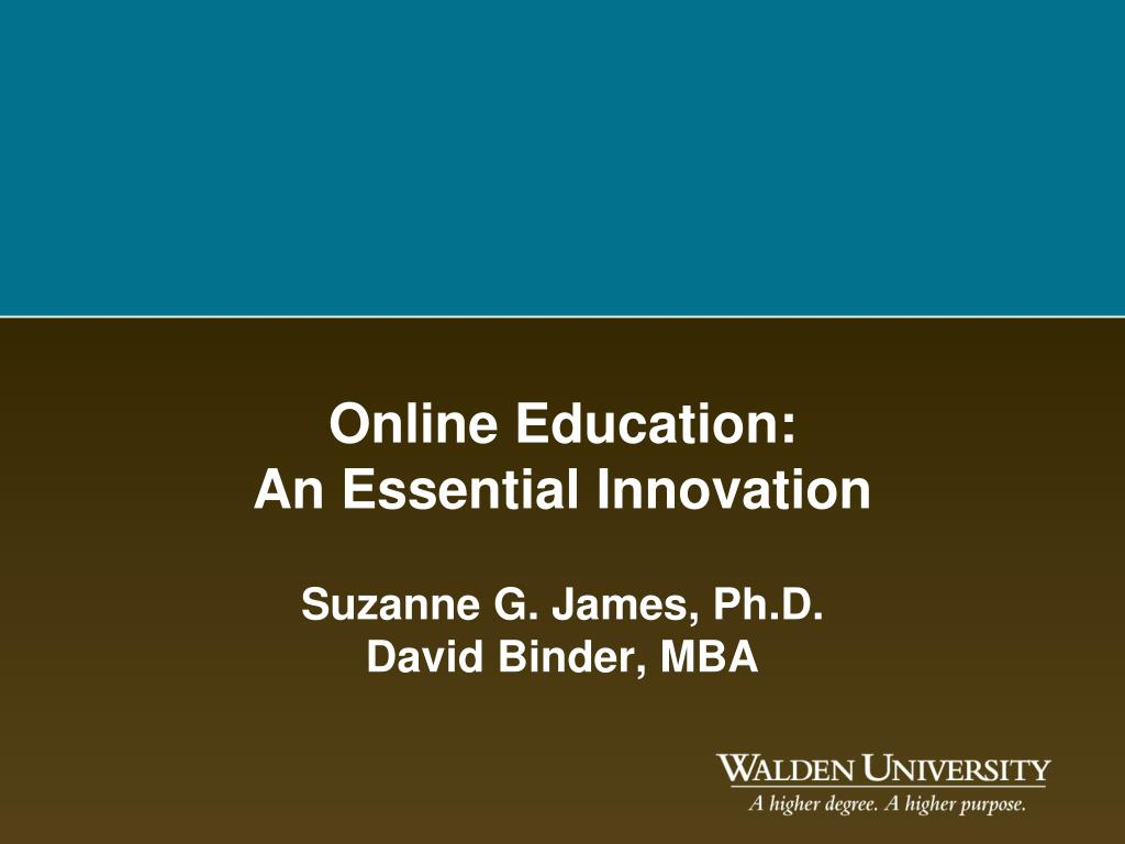 online education an essential innovation l.