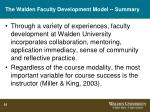 the walden faculty development model summary