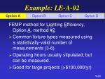 example le a 02