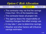 option c risk allocation