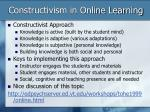 constructivism in online learning