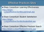 effective practices sites