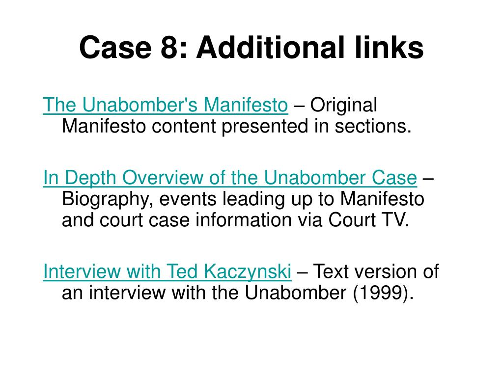 Case 8: Additional links