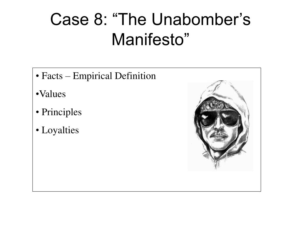 "Case 8: ""The Unabomber's Manifesto"""