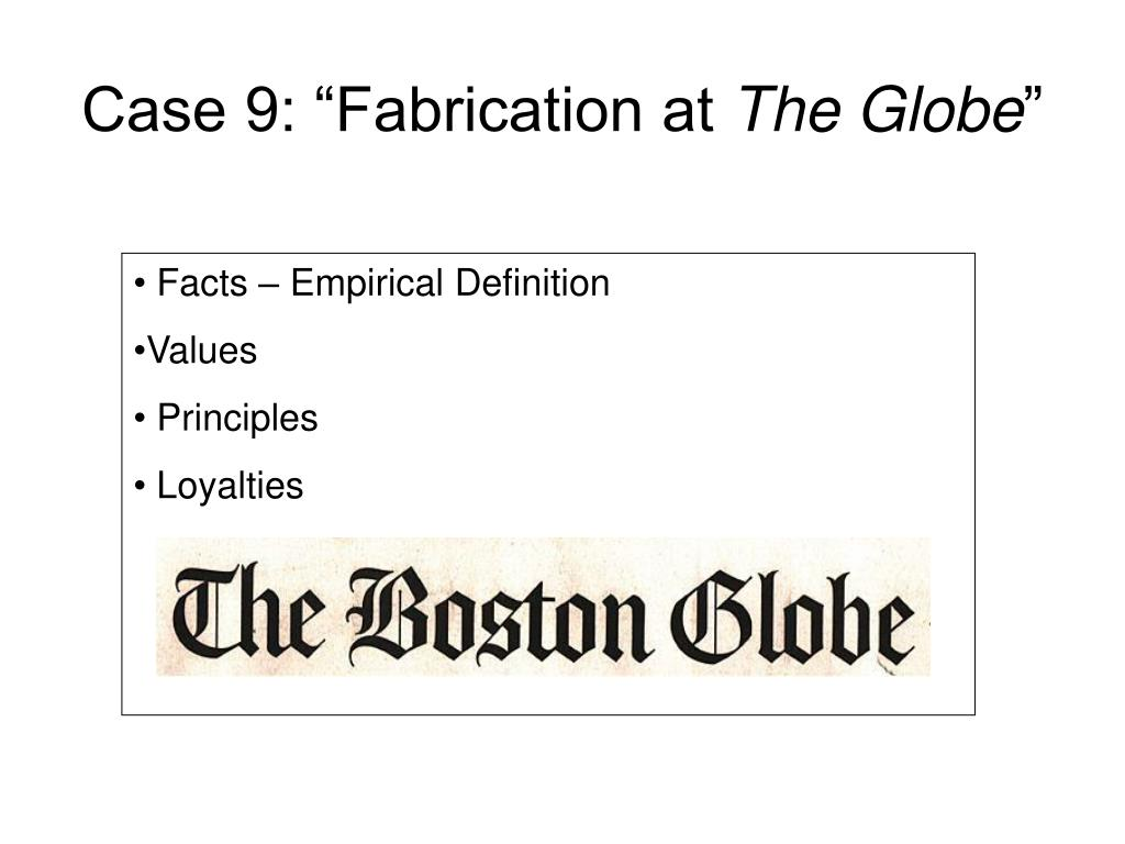 "Case 9: ""Fabrication at"