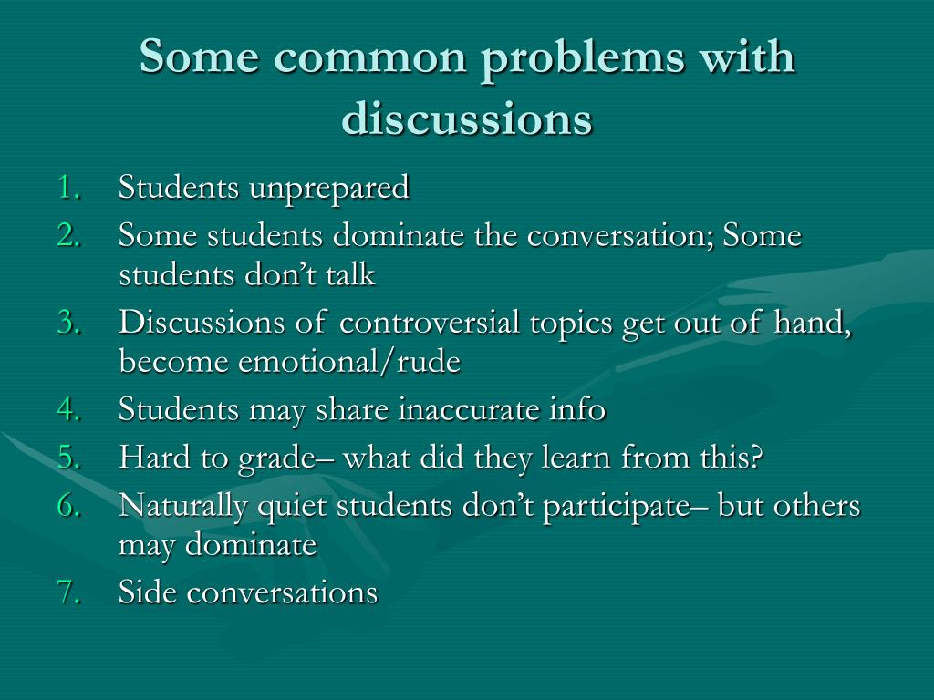 Some common problems with discussions