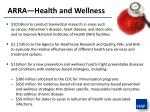 arra health and wellness