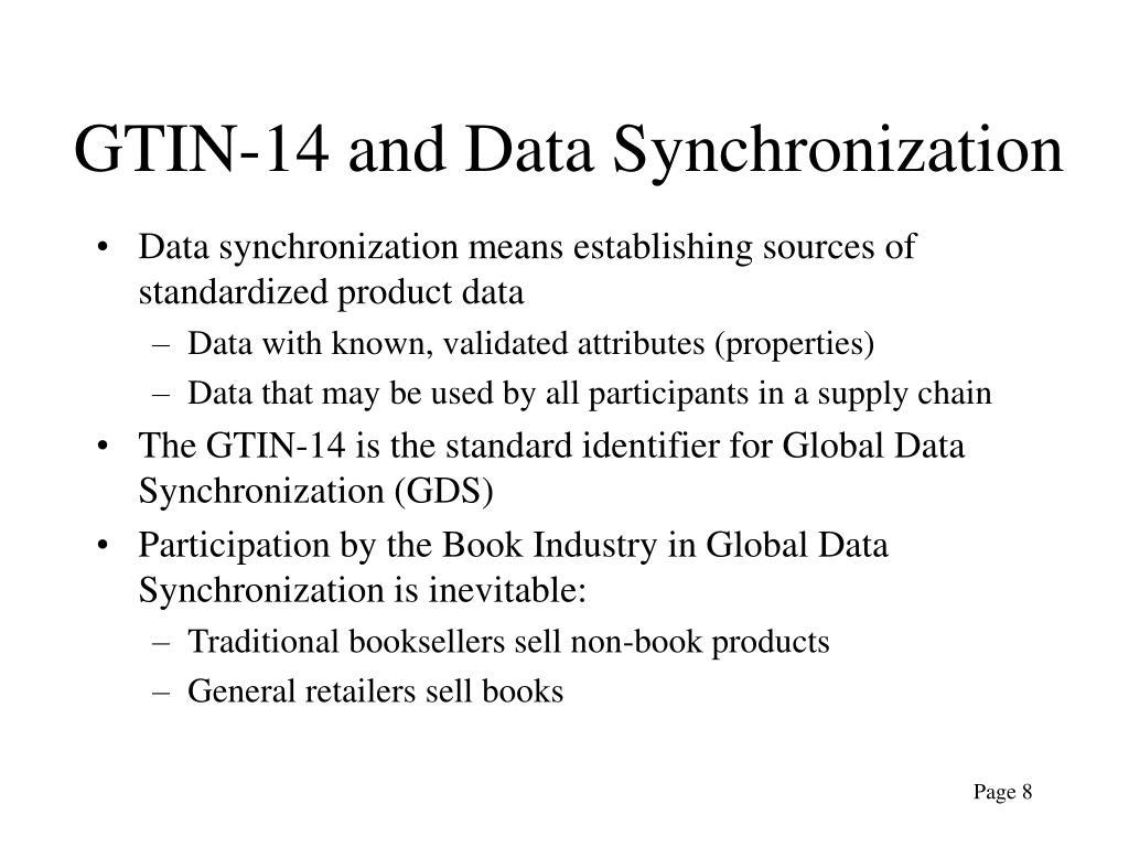 GTIN-14 and Data Synchronization