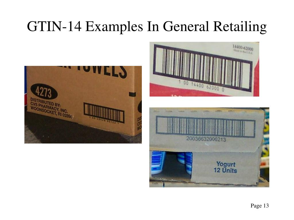 GTIN-14 Examples In General Retailing