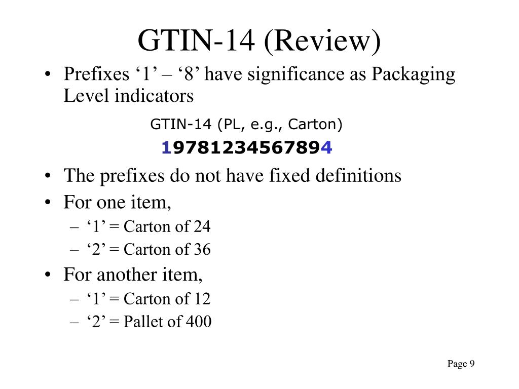 GTIN-14 (Review)