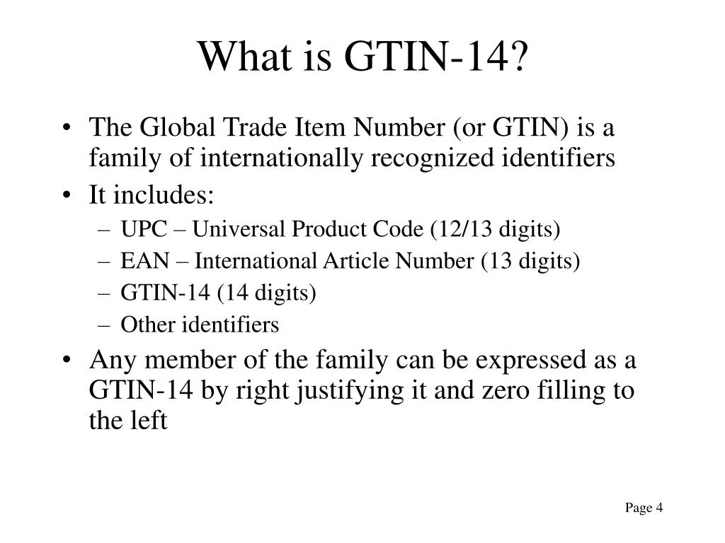 What is GTIN-14?