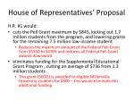 house of representatives proposal