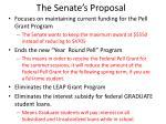the senate s proposal