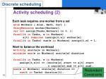activity scheduling 2