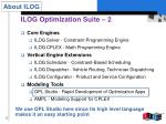 ilog optimization suite 2