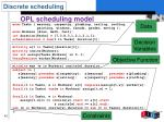opl scheduling model