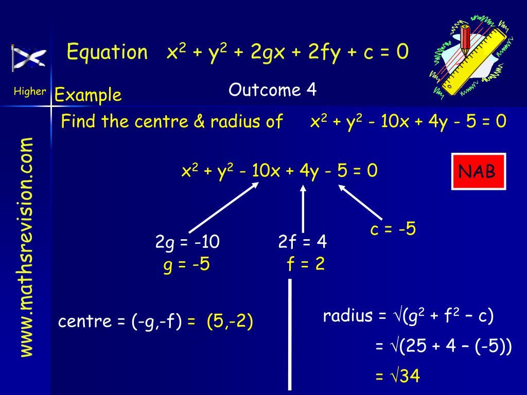 Equation   x