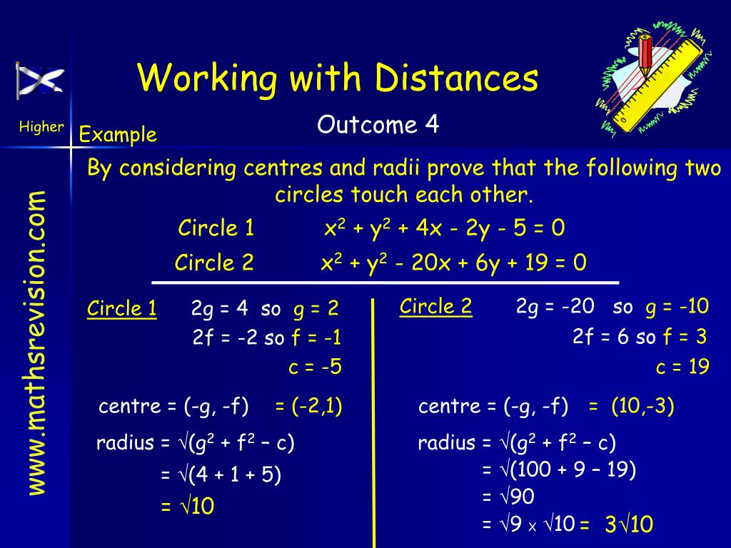 Working with Distances